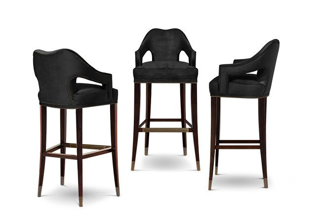 Nº20 Modern Bar Chairs | Upholstered Bar Stools | Bar Chairs | Modern Chairs #Restaurantinteriordesign #restaurantinteriors #hospitalityfurniture | Read more: https://www.brabbu.com/en/upholstery/