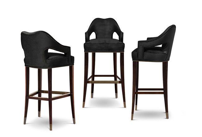 Nº20 Modern Bar Chairs | Upholstered Bar Stools | Bar Chairs | Modern Chairs #Restaurantinteriordesign #restaurantinteriors #hospitalityfurniture | Read more: https://www.brabbu.com/en/upholstery/