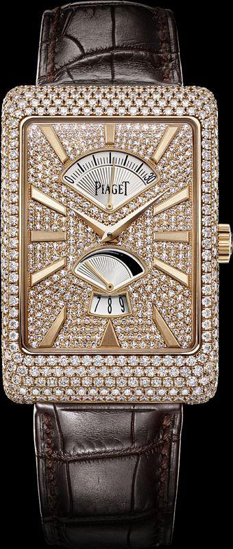 Pink gold Diamond retrograde seconds Watch - Piaget Luxury Watch G0A33060