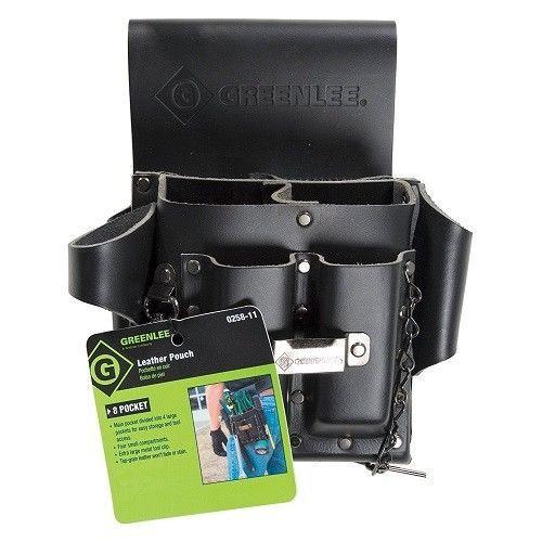 Leather Tool Pouch Bag Belt Carpenter Construction New Organizer Pocket Storage #Greenlee