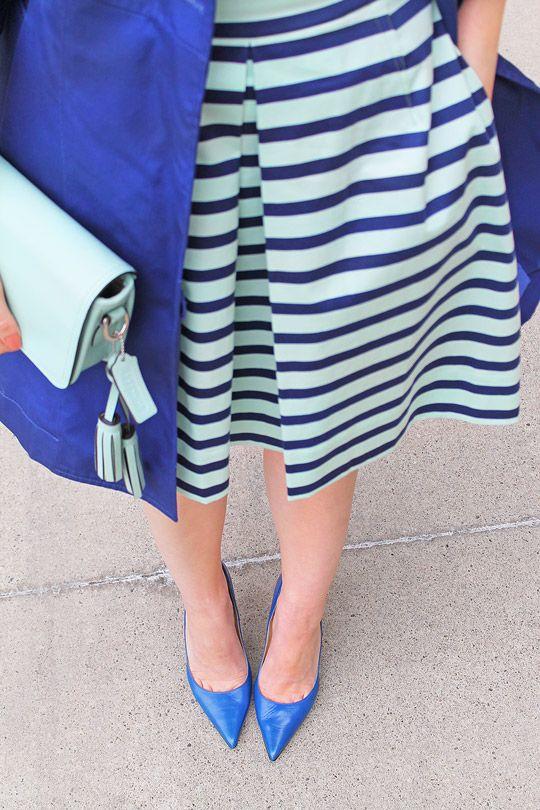 Mint and Blue Gap Stripe Dress | Crazy Style Love
