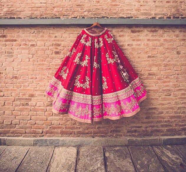 Half saree....I love the color combination!