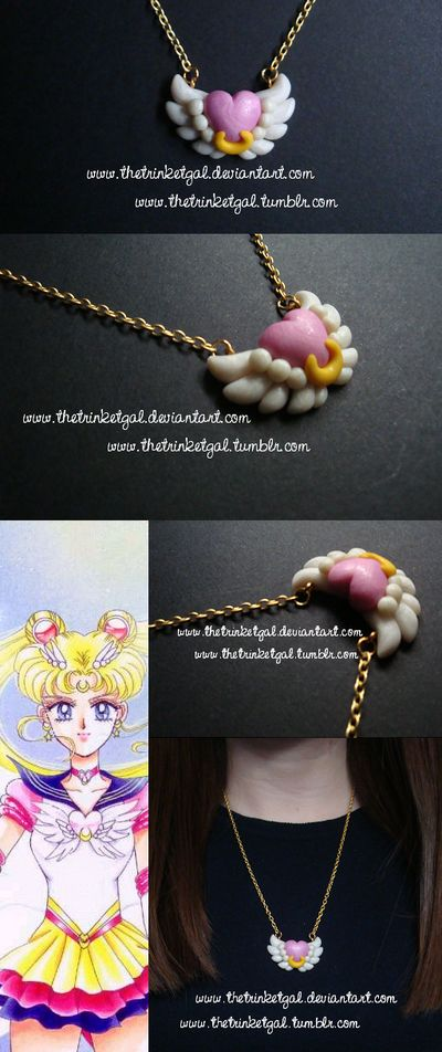 Eternal Sailor Moon Brooch Pendant by TheTrinketGal.deviantart.com on @DeviantArt