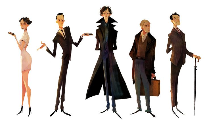 Crystal Kung Art — character design assignment this week SHERLOCK