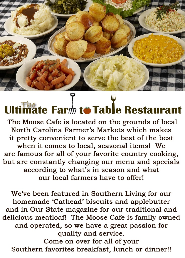I love the Moose Cafe in Asheville, NC. If you haven't been you should definitely try it!