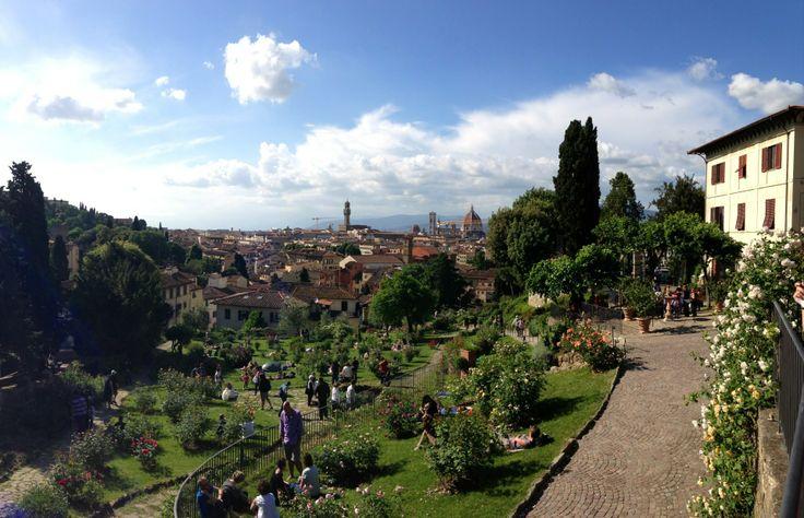 Giardino delle Rose in Firenze, Toscana. A small hidden garden in San Frediano.