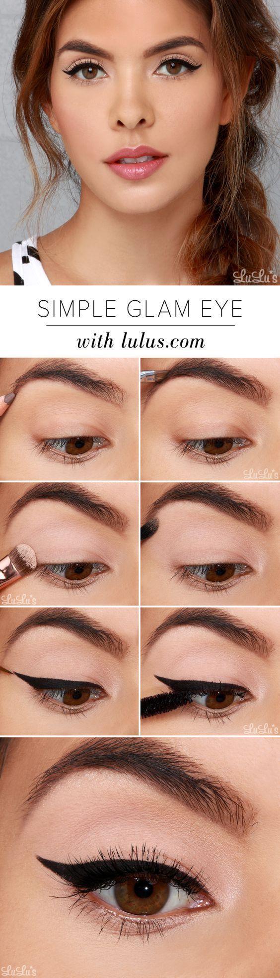 simple-glam-eye-makeup-for-brides via