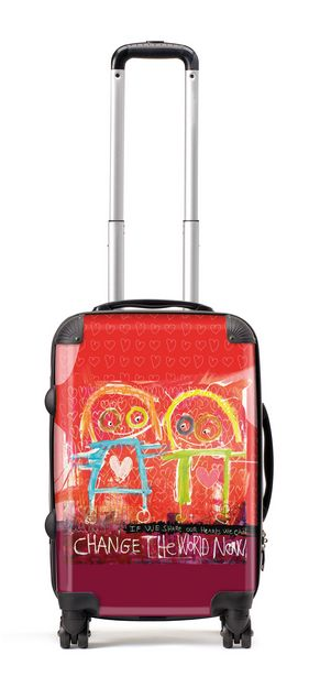 Suitcase (56cm) change the world - more information http://poulpavashop.com/suitcases/change-the-world-now-koffer-groot-56cm.html