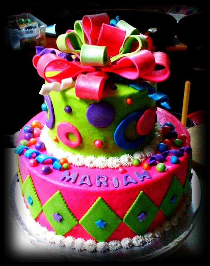 Best CakesGlow In The Dark Cakes Images On Pinterest Glow - Neon birthday party cakes