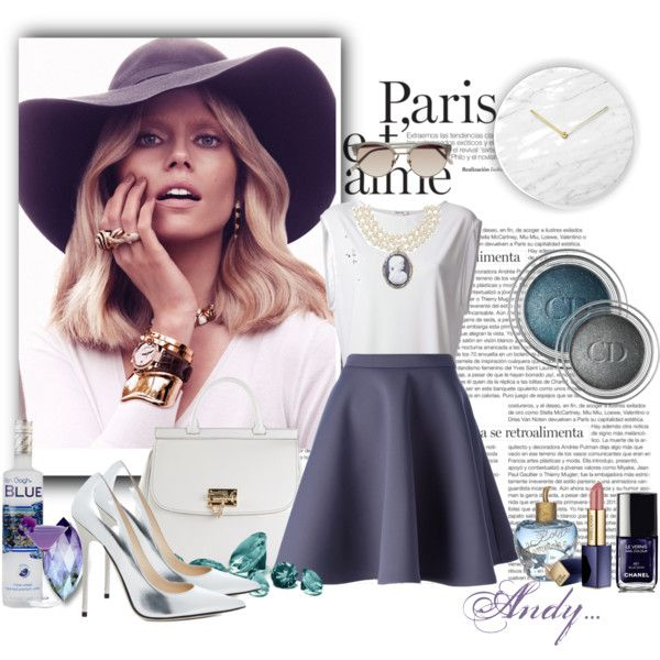 """How to wear Jimmy Choo silver heels!!"" by andyts on Polyvore"