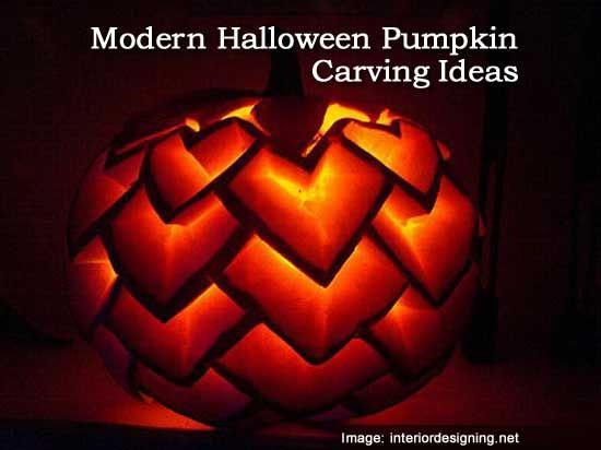 Modern Halloween Pumpkin Carving Ideas