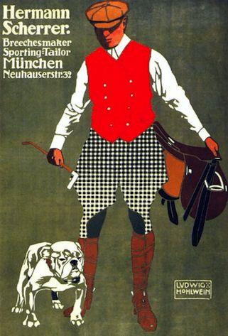 ハンチング帽、Hermann Scherrer, 1907