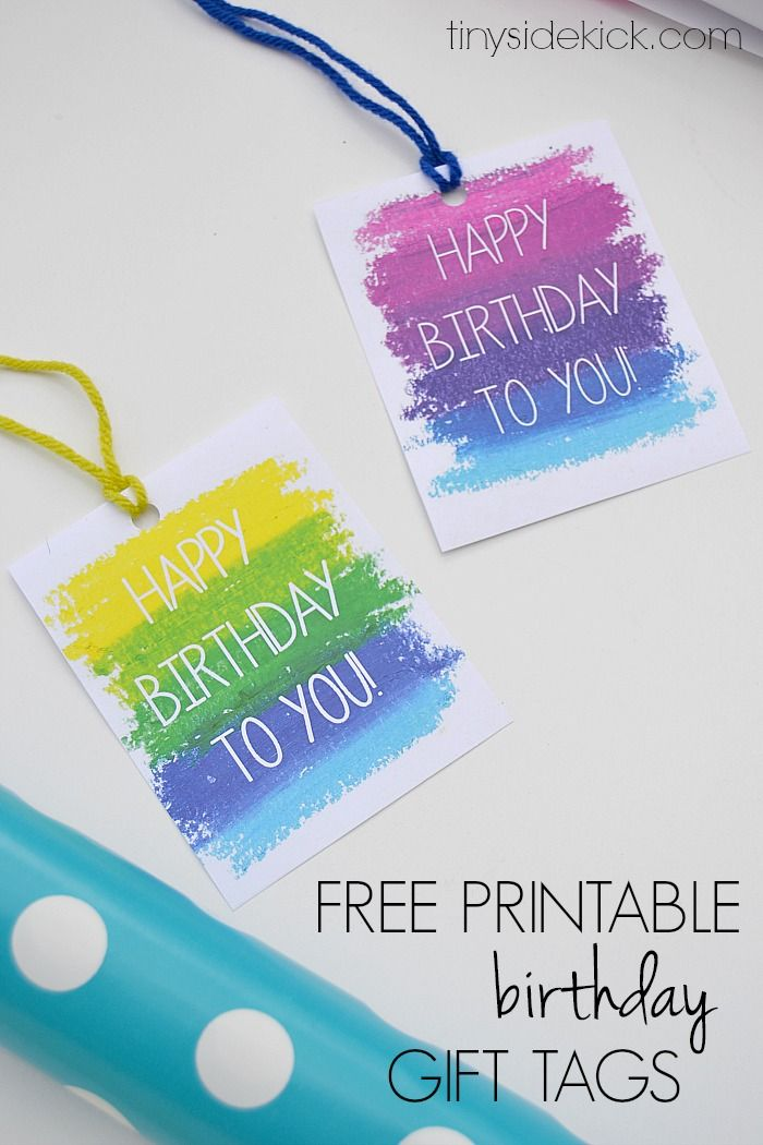Free Printable Birthday Gift Tags- Print these gift tags the next time you give a birthday present!  |  TinySidekick.com