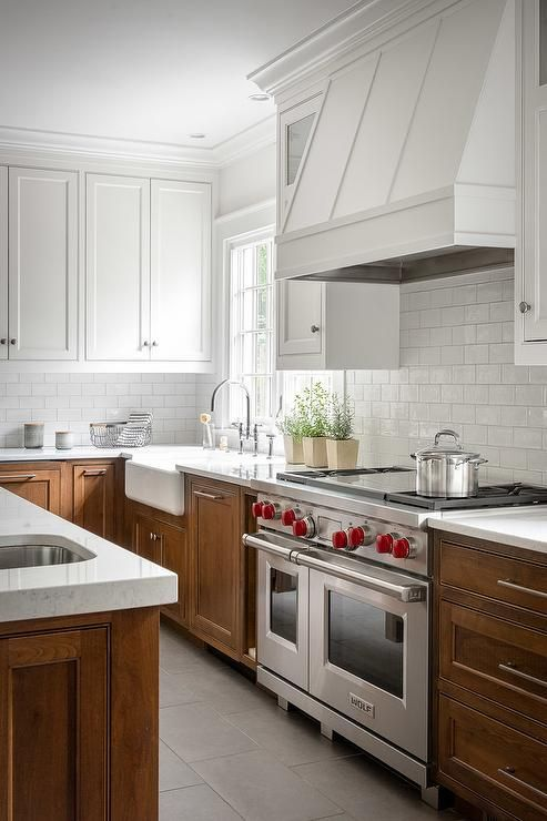 Best White Upper Cabinets With Brown Lower Cabinets Brings A 400 x 300