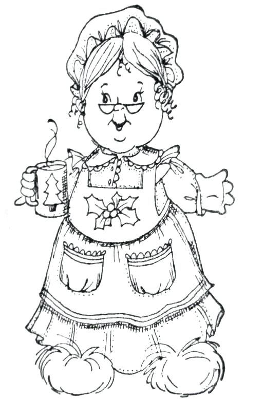 coloring pages mrs claus hot chocolate