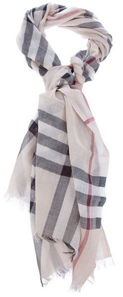 BURBERRY LONDON Scarf    I have this -well a version of this Nova check for over 15 years & I can say it has travelled the World with me!! An absolute Must have item for your closet .... trust me ,-)