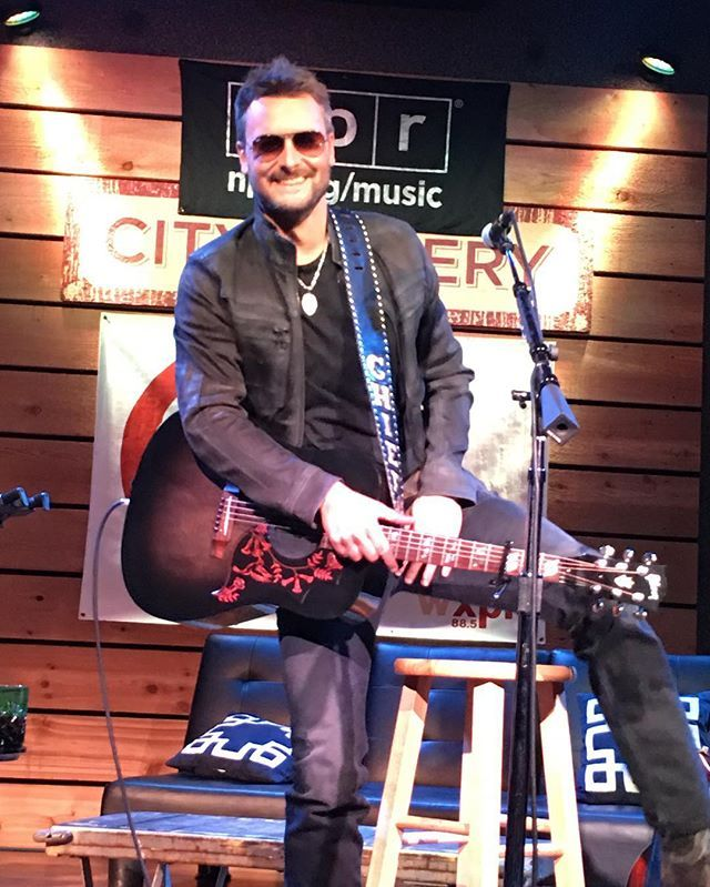 Loved the stories. Loved the music. Thank you @ericchurchmusic and @nprmusic - we had an incredible night! #ericchurch #nashville #citywinery #thanksforsigningmywinebottle