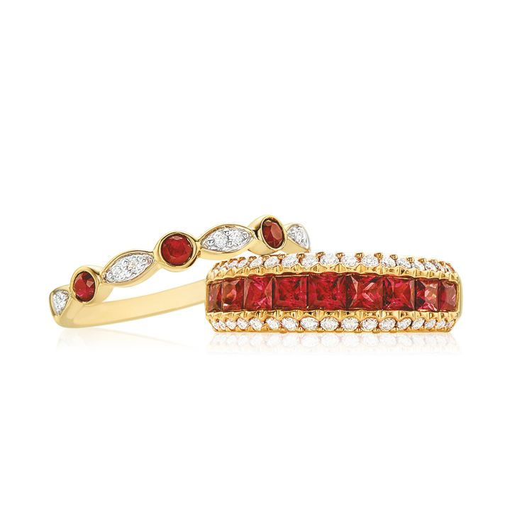 It's a ruby sort of day... Which style do you prefer? Visit us in-store for irresistible rubies! #mazzucchellis #jeweller #jewellery #mazzucchellisjeweller #diamond #diamonds #diamondjewellery #diamondring #ruby #rubies #birthstone #birthstonejewellery #julybirthstone #rubybirthstone #red #gift #giftideas #birthdaypresent #forher
