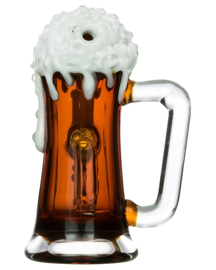 Time for a thick and frothy rip from your new Root Beer Mug Bong! Smooth and tasty. Made from beautiful, durable amber glass. Drink it in! #Amber #glass #weed #water #bong #pipe