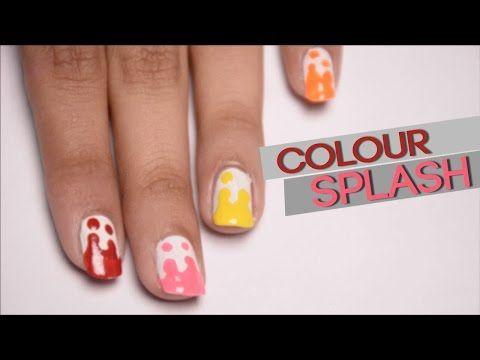 nail art splash colour    #nailart #nails #tutorialnailart