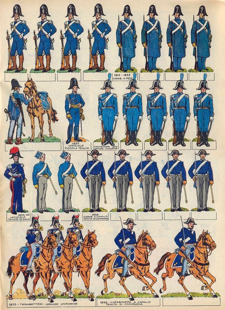 Corrierino e Giornalino: I carabinieri dal 1814 al 1848