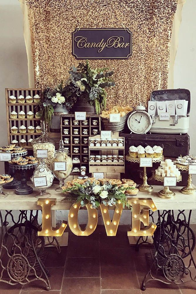 36 From Vintage To Modern Wedding Dessert Table Ideas Modern