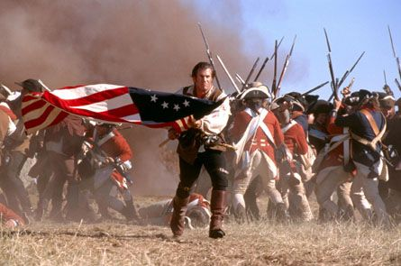 Top of their list is the Patriot starring Mel Gibson (who has two entries with The Patriot and Braveheart). Description from willcookson.wordpress.com. I searched for this on bing.com/images