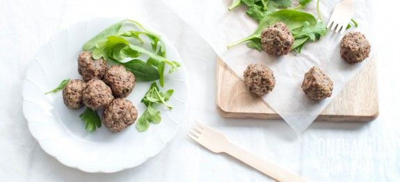 Beef, Quinoa and Mushroom Meatballs - One Handed Cooks