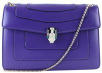BVLGARI Serpenti Flap Flap Cover Snake Classic Flap Shoulder Bag