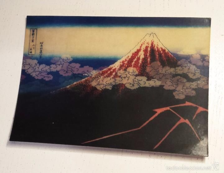 Postales: POSTAL Arte japonés, Hokusai MONTE FUJI 3D POSTCARD MADE IN GERMANY L.M. Kartenvertrieb - Foto 4 - 57315120