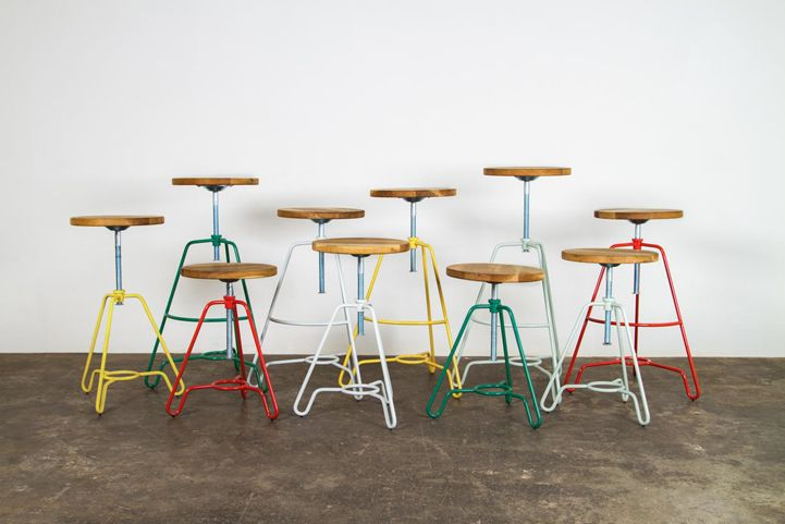 District Eight Design Briggs Home Decor Singapore Industrial Stool Furnitures