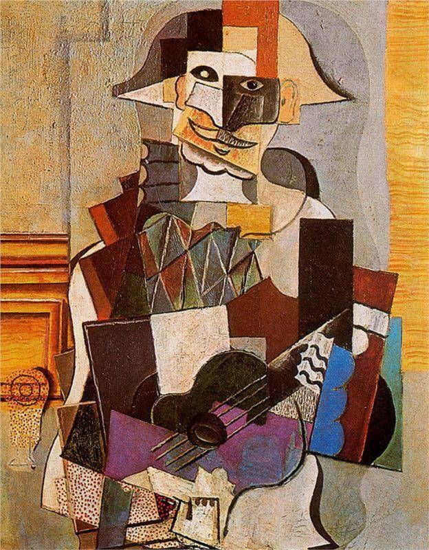 Harlequin - Pablo Picasso, 1918