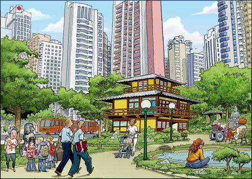 Curitiba - Praça do Japão by Cesar Lobo