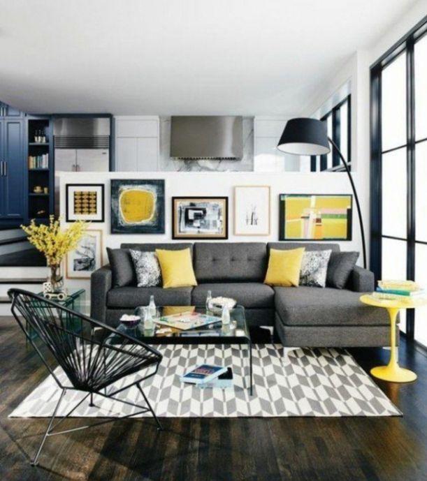 30+ Grey and mustard living room ideas inspirations