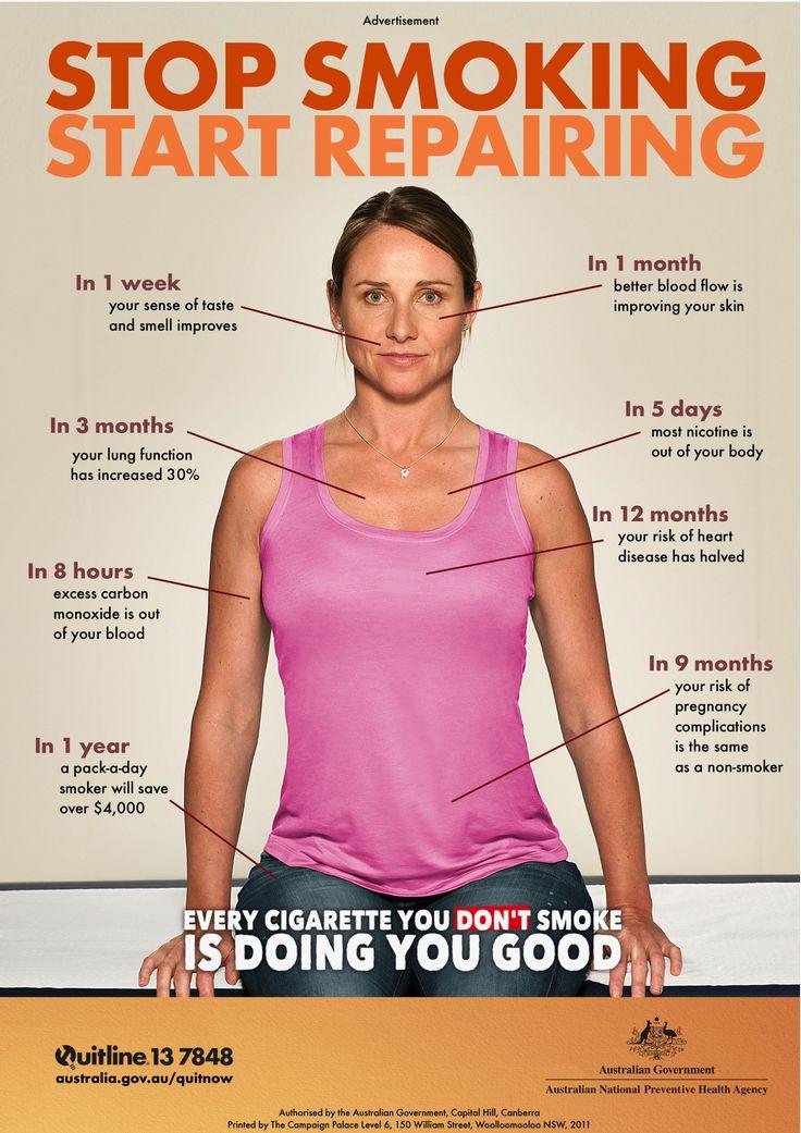 Stop smoking  Start repairing  This anti-smoking campaign