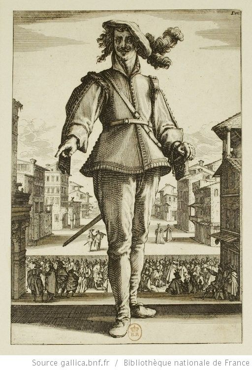 [Les trois Pantalons]. [2], [Le Capitan] : [estampe] / [Jacques Callot] - 1