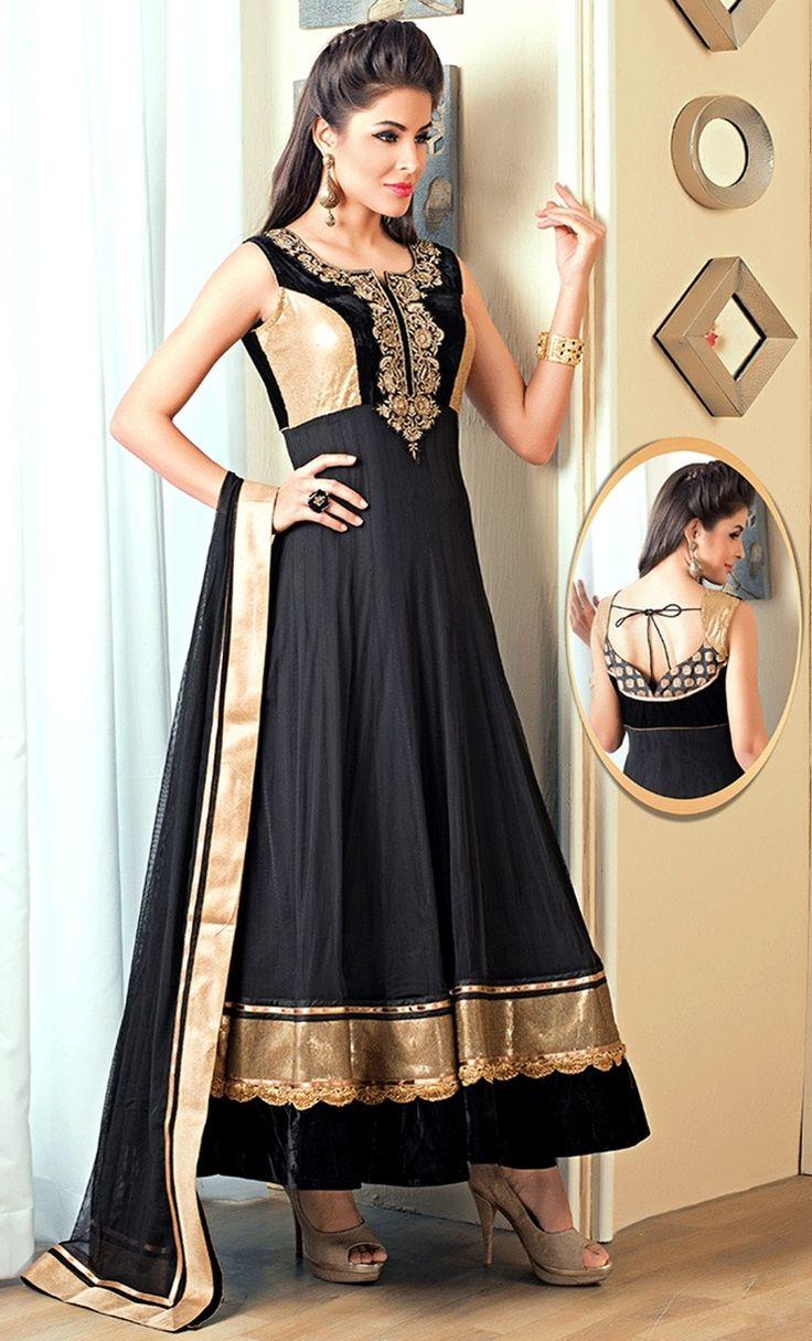Black #Designer #Salwarkameez  For More Salwar Kameez Check this page now :-http://www.ethnicwholesaler.com/salwar-kameez