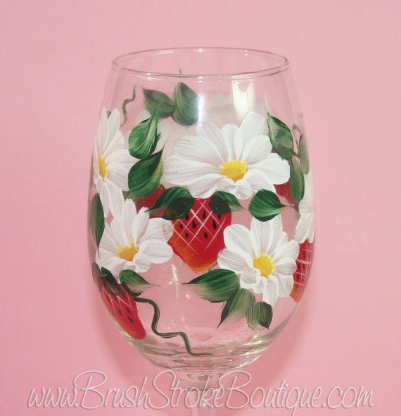 Listado es para un vaso. Se muestra el vidrio es 20 onzas cristal de vino blanco con brillo NO.  Cada copa de vino es individualmente pintado