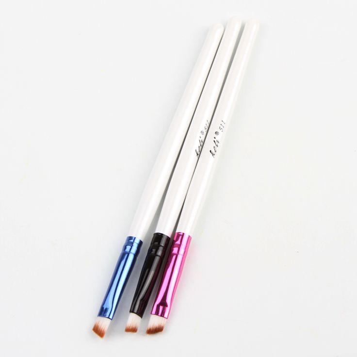 Colori casuali Nuovo Portatile 1 Pz Professionale Angolato Sopracciglio Eyeliner Brow Brush Shader Pennello Trucco Cosmetics Studio