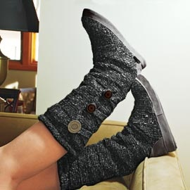 Layered Sweater Boots, Sewn-in Leg Warmers | Solutions. SO WANT