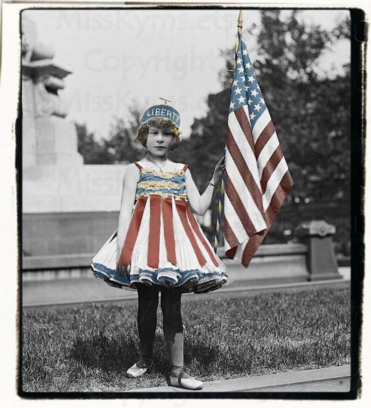 Little Liberty antique child photo, digital download. via Etsy.