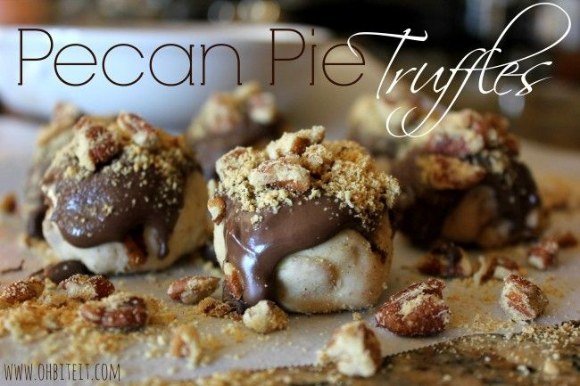 Pecan Pie Truffles | Baking And Sweet Things I Like | Pinterest