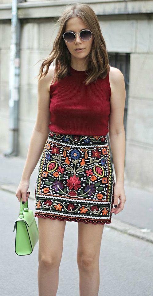 An Embroidery Skirt As Featured on PASABOHO ❤️ Street Fashion :: boho chic :: summer dress :: bohemian style ::gypsy style :: boho fashion :: gypsy style :: hippie chic :: boho chic :: outfit ideas :: boho clothing :: free spirit :: fashion trend :: embroidered :: flowers :: floral :: summer :: fabulous :: love :: street style :: fashion style :: boho style :: bohemian :: modern vintage :: ethnic tribal :: boho bags :: boho summer dress trend