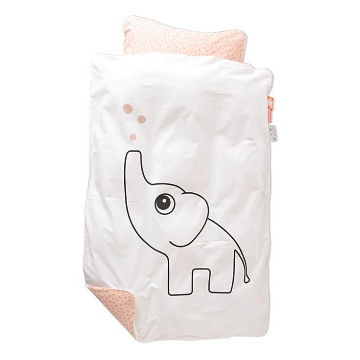 Elphee sengetøj. Lukkes med skjult lynlås.  Matchende stofpose medfølger. 100% bomuld  Maskinvaskes ved 60 grader