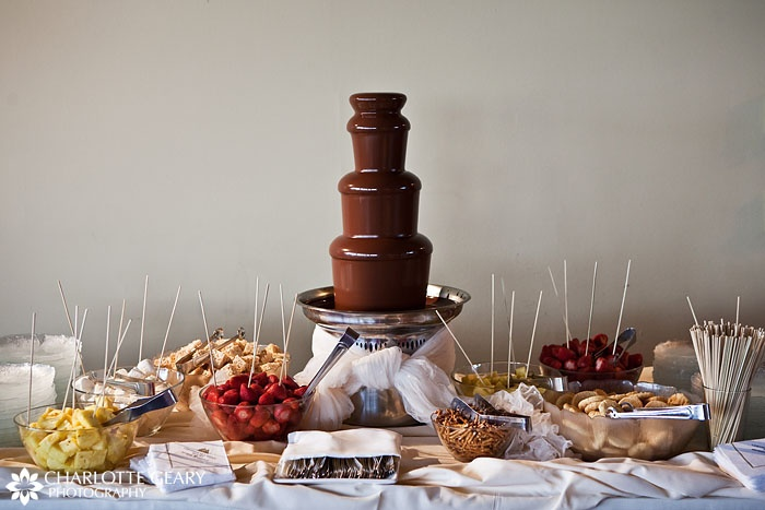 I love chocolate fountain machines! I went to a wedding that had one and it was amazing!