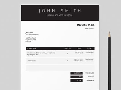 86 best Invoice Design images on Pinterest Invoice design, Brand - free invoice design