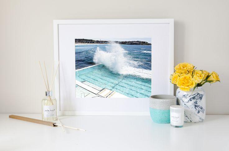 The Lens and I Bondi Icebergs Travel Print, Art, Art Prints, Prints, Home Decor, Homewares, Interior Decor, Homewares Online, Soy Candles, Soy, Cushions