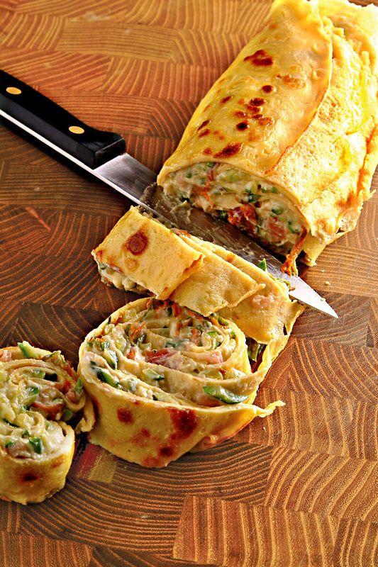 Rotolo di crespelle con ripieno di ricotta e zucchine - Scuola di cucina - Donna Moderna torta salata