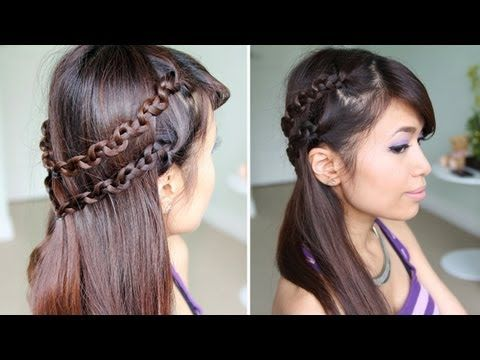Like and favorite for more ♥ Learn how to do more cute hairstyles: http://www.youtube.com/playlist?list=PLD4D5DE6CCCF00AF4  Hey guys, here's a fun way to wear the popular snake braid. This hair tutorial will show you how to combine a few snake braids to create a funky headband. This hairstyle will also look great with waves or curls so definitely...