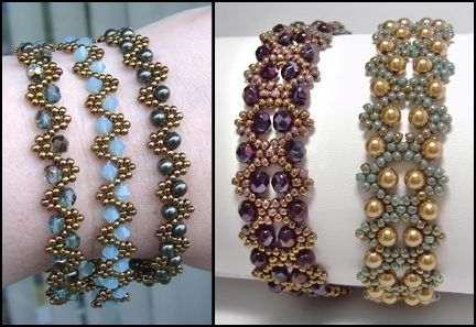 Bobble Bangles by Deb Roberti, AroundTheBeadingTable.com